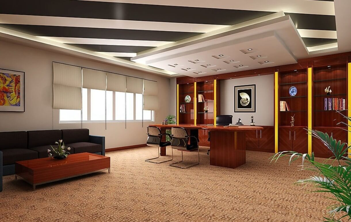Натяжной потолок для офиса